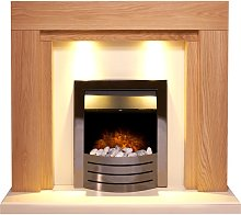 Adam Beaumont Fireplace Suite in Oak & Cream with