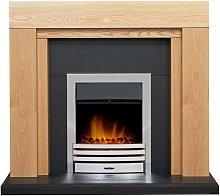 Adam Beaumont Oak & Black Fireplace with
