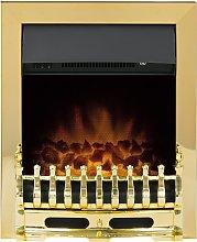 Adam Blenheim Electric Inset Fire - Brass