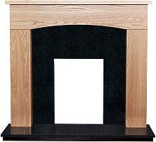 Adam Bretton Fireplace in Oak & Black Granite