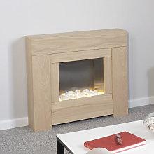 Adam Brooklyn Oak Electric Fireplace Suite - 22507