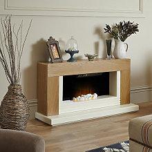 Adam Carrera Oak Electric Fireplace Suite - 7153