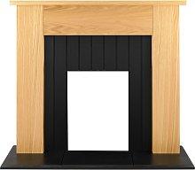 Adam Chessington Fireplace in Oak, 48 Inch