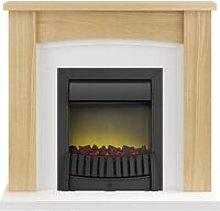 Adam Chilton Fireplace Suite in Oak with Elan