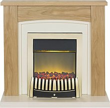 Adam Chilton Oak Electric Fire Fireplace Surround