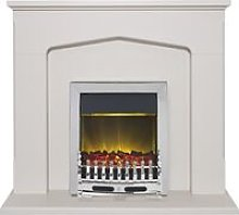 Adam Cotswold Fireplace Suite in Stone Effect with