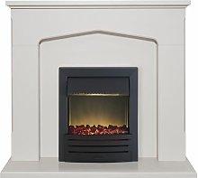Adam Cotswold Stone Surround Fireplace Stove Fire