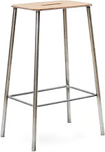 Adam Cuir High stool - / H 65 cm by Frama