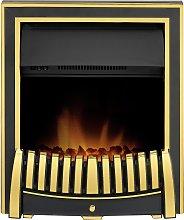 Adam Elan 2kW Electric Inset Fire - Brass