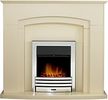 Adam Falmouth Fireplace in Cream with Downlights &