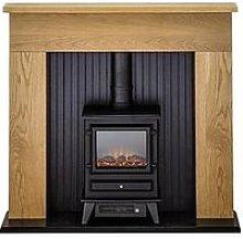 Adam Fires & Fireplaces Innsbruck Oak Electric