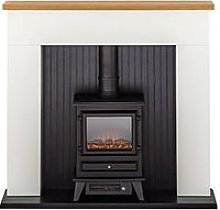Adam Fires & Fireplaces Innsbruck White Electric