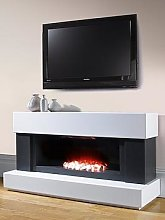 Adam Fires & Fireplaces Verona White/Grey Electric