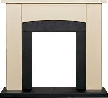 Adam Holden Fireplace in Cream & Black, 39 Inch