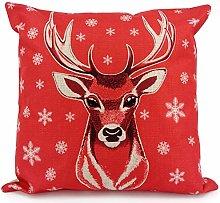 Adam Home Christmas Cushion Covers (1 Pack, Deer)