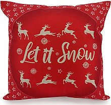 Adam Home Christmas Cushion Covers (1 Pack, LET IT