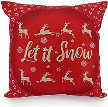 Adam Home Christmas Cushion Covers (1 Pack, Snow