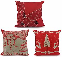 Adam Home Christmas Cushion Covers (3 Pack, Eira)