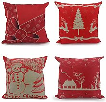 Adam Home Christmas Cushion Covers (4 Pack, Holly)