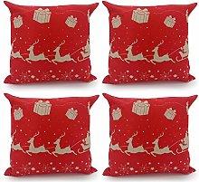 Adam Home Christmas Cushion Covers (4 Pack, SANTA