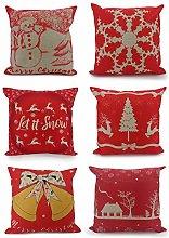 Adam Home Christmas Cushion Covers (6 Pack,