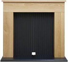 Adam Innsbruck Stove Fireplace in Oak, 48 Inch