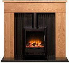 Adam Innsbruck Stove Fireplace in Oak with Keston
