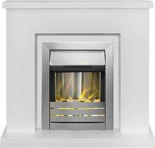 Adam Lomond White Surround Fireplace Stove Fire