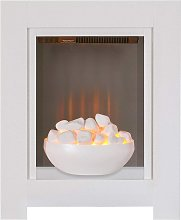 Adam Monet Fireplace Suite in Pure White with