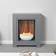 Adam Monet Grey Electric Fireplace Suite - 22506