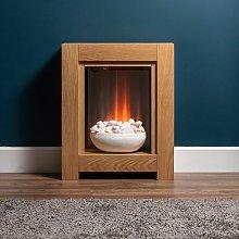 Adam Monet Modern Oak Surround Fireplace Stove