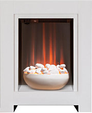 Adam Monet Pure White Electric Fireplace Suite -