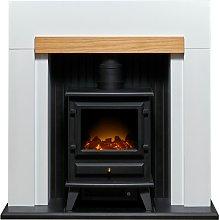 Adam Salzburg 2kW Electric Stove Fire Suite -