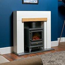 Adam Salzburg Electric Fireplace Stove Fire Heater