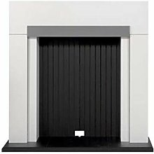 Adam Salzburg Stove Fireplace in Pure White with