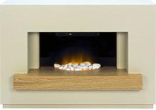 Adam Sambro Stone Effect with Oak Shelf Electric