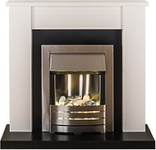 Adam Solus Modern White Fireplace Mantel with
