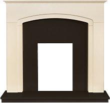 Adam Tamworth Fireplace with Downlights in Cream &