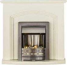 Adam Truro Cream Electric Fire Fireplace Inset