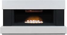 Adam Verona White Electric Fireplace Suite - 4548