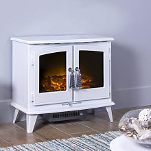 Adam Woodhouse White Electric Stove - 18188