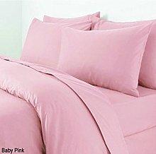 Adamlinens Baby Pink Plain Dyed King Size