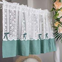 ADASP Short Curtain for Kitchen Window Jacquard
