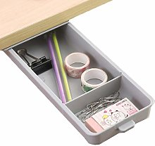 Add On Desk Drawer Gray Storage For Under Table -