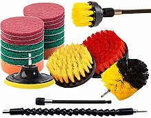 ADDFOO 21 Piece Drill Brush Attachments Set Scrub