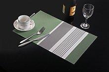 Addfun®Placemats(Set of 6),Premium Washable Color