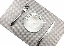 Addfun®Table Mats(Set of 4),Premium Washable High