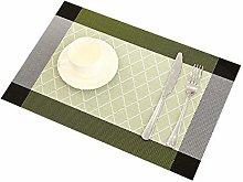 Addfun Table Mats(Set of 6), Grid patterns PVC