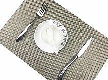 Addfun®Table Mats(Set of 6),Premium Washable High