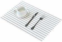 Addfun Table Mats(Set of 6),PVC Insulation